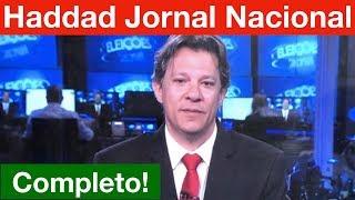 Entrevista Completa Fernando Haddad no Jornal Nacional! Análise. Bonner detona PT e Haddad.