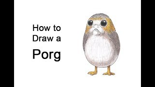 How to Draw a Porg from Star Wars The Last Jedi