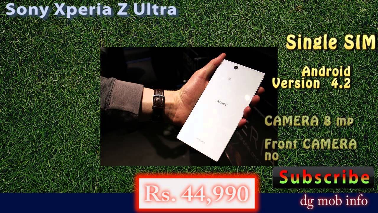 Sony Xperia Z Ultra (Features In Hindi)