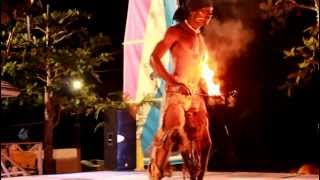 Fire Twirling at Couples Sans Souci Beach Party