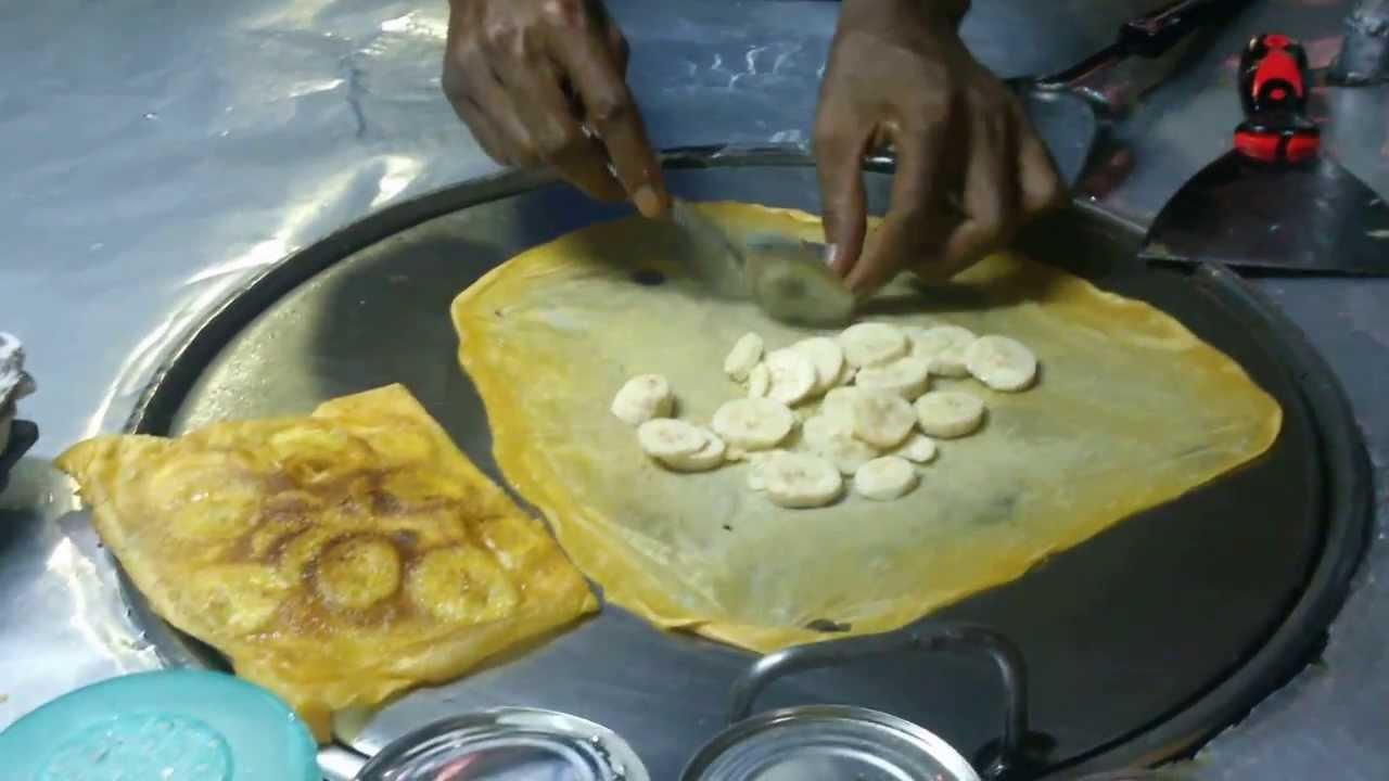 Banana Roti , Thai street food - YouTube