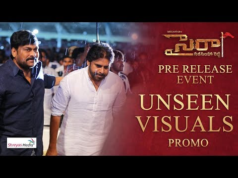 Sye Raa Pre Release Event Unseen Visuals Promo | Chiranjeevi | Pawan Kalyan | Ram Charan |