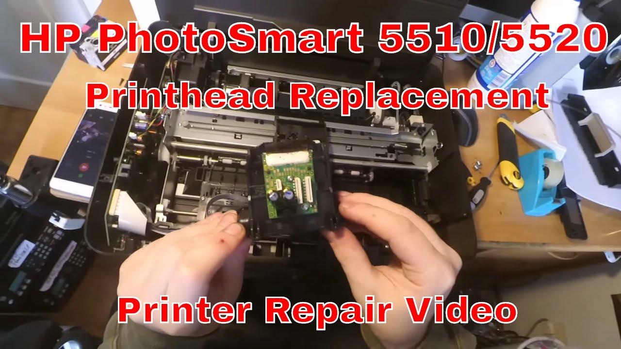 Hp Photosmart 5510 5520 Printhead Replacement Youtube