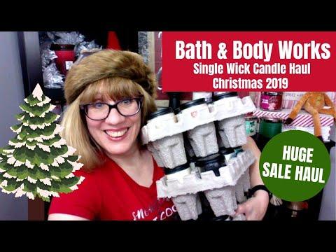 Bath & Body Works Haul - Single Wick Candle Sale Christmas 2019