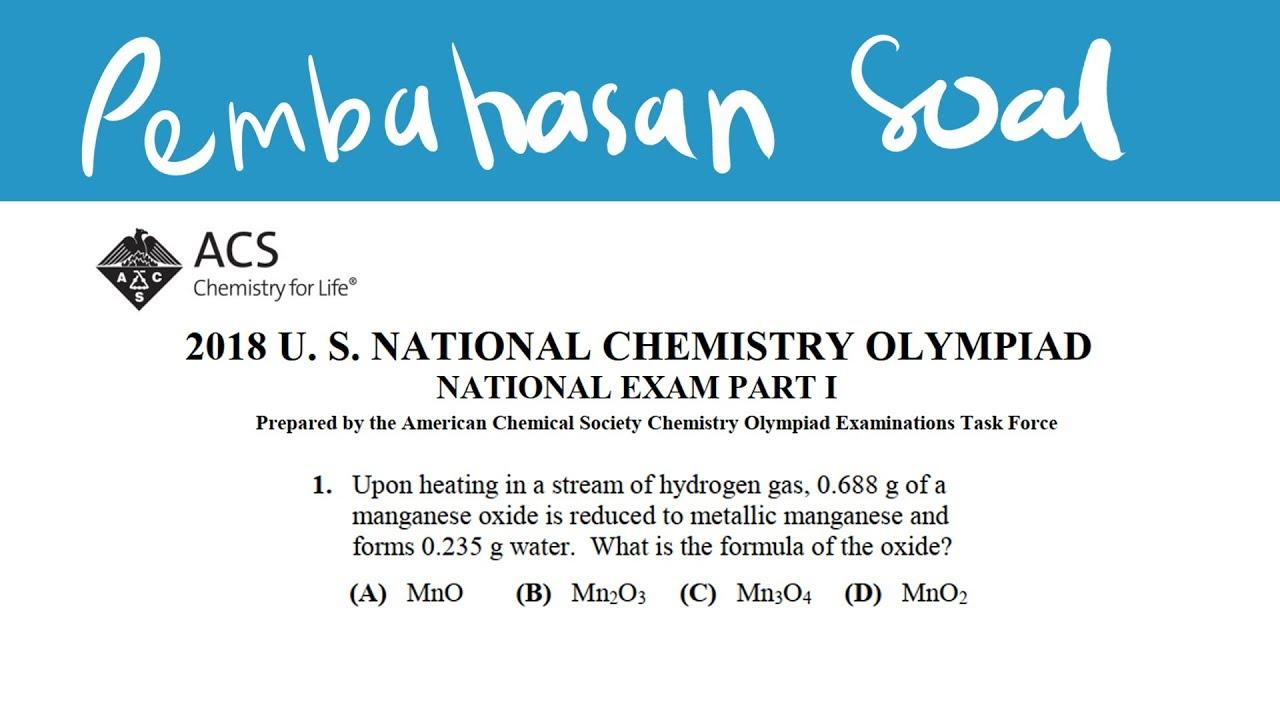 Soal Olimpiade Kimia Sma Pdf