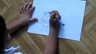 Dessin de bob l'éponge par Baran 7 ans