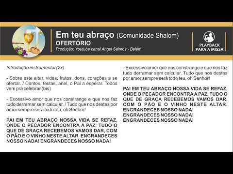 Em Teu abraço (Sobre este altar) Shalom - (PLAYBACK) - Por Angel Salmos - Belém