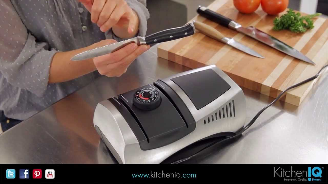 Kitchen Iq Adjustable Electric Sharpener Youtube