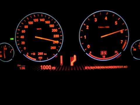 Bmw 7 Series Acceleration To Top Speed Youtube