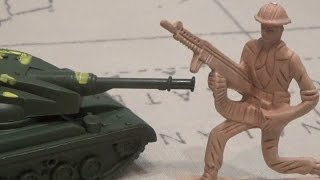 Мультики про машинки и военную технику Солдатики игрушки пластмассовые игрушечные войны мультфильм