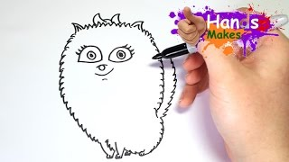Easy How To Draw Gidget From Secret Life of Pets For Kids