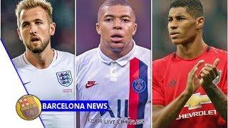 Barcelona have Harry Kane, Marcus Rashford and Kylian Mbappe transfer preference- news now