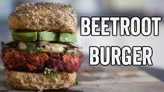 connectYoutube - Beetroot burger recipe