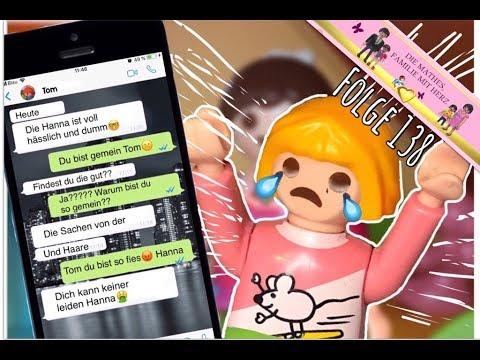 Hanna wird über WhatsApp gemobbt😭 - Lena tröstet sie - Playmobil Film deutsch
