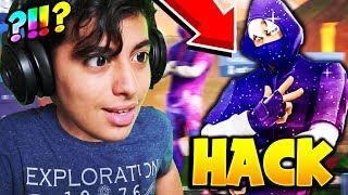 "THIS HACKER ME MONTRE ITS SKIN ""IKONIK GALAXY"" ON FORTNITE BATTLE ROYALE! NO FAKE!"