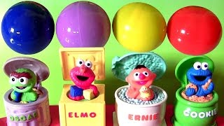 sesame street singing pop up pals learn colors learn numbers with kinder eggs toys surprises