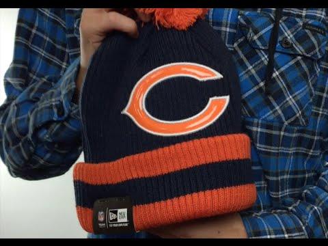 af776a0c4 Bears  CHILLER FILLER BEANIE  Navy-Orange by New Era - YouTube