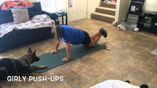 German Shepherd Works Out With Owner