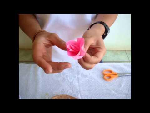 การทำดอกไม้ด้วยกระดาษย่น By NaMint