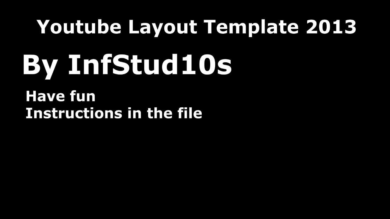 youtube layout template 2013 psd infstud10s youtube