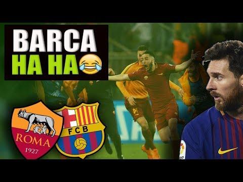 NAJGORSZY Mecz BARCELONY Jaki Oglądałem! AS ROMA W Półfinale LM