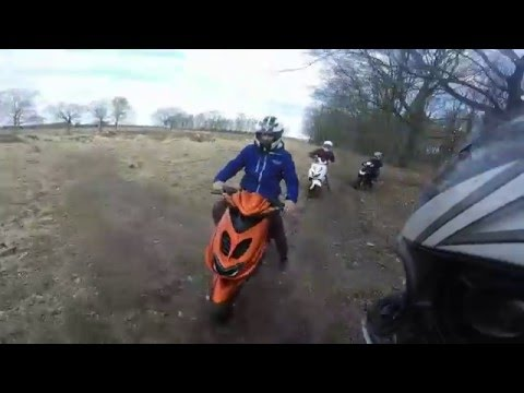 Yamaha Aerox | Meeting Up With Other Riders | Stunts | Fails | Police And More | GoPro