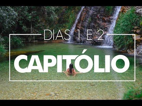 CAPITÓLIO, MG: LAGOA AZUL, LANCHA NO LAGO DE FURNAS E CASCATA ECO PARQUE.
