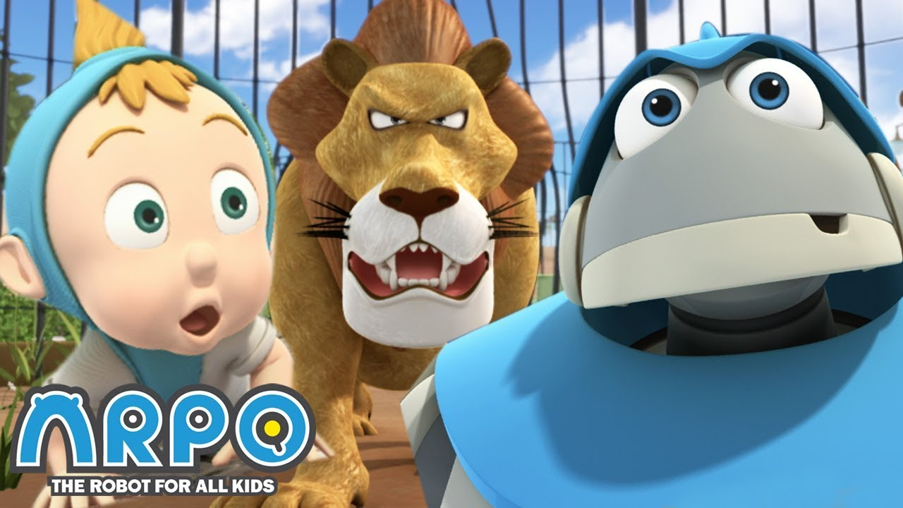 LOST at the Zoo!! - ARPO the Robot | 에피소드를보고 | Cartoons for Kids | Robot Kids Animation Series