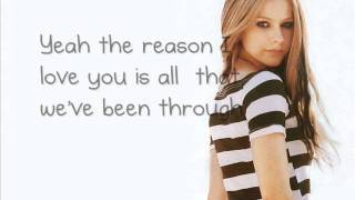Avril Lavigne - I Love You (Lyrics)