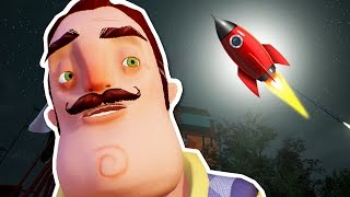 SECRET HIDDEN ROCKET JUMP?! - Hello Neighbour