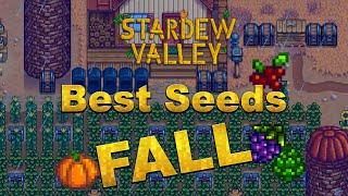 Stardew Valley - Money Making - Fall - Best Seeds