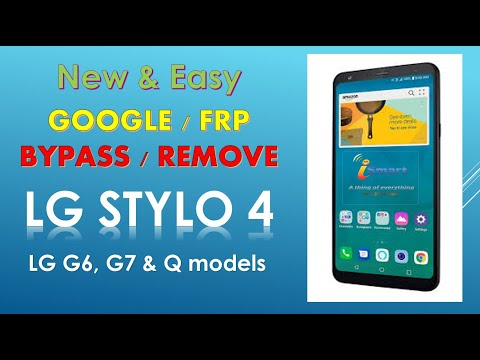 How to Remove bypass google account 2019 LG STYLO 4, G6, G7 Android 8.1.0