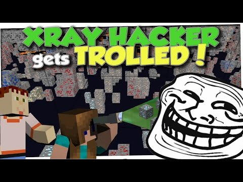 Minecraft Trolling - XRAY HACKER CAUGHT (Minecraft Pranks Ep 9)