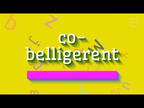 "How to say ""co-belligerent""! (High Quality Voices)"