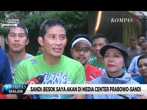 Sandi: Besok Saya Akan Di Media Center Prabowo-Sandi