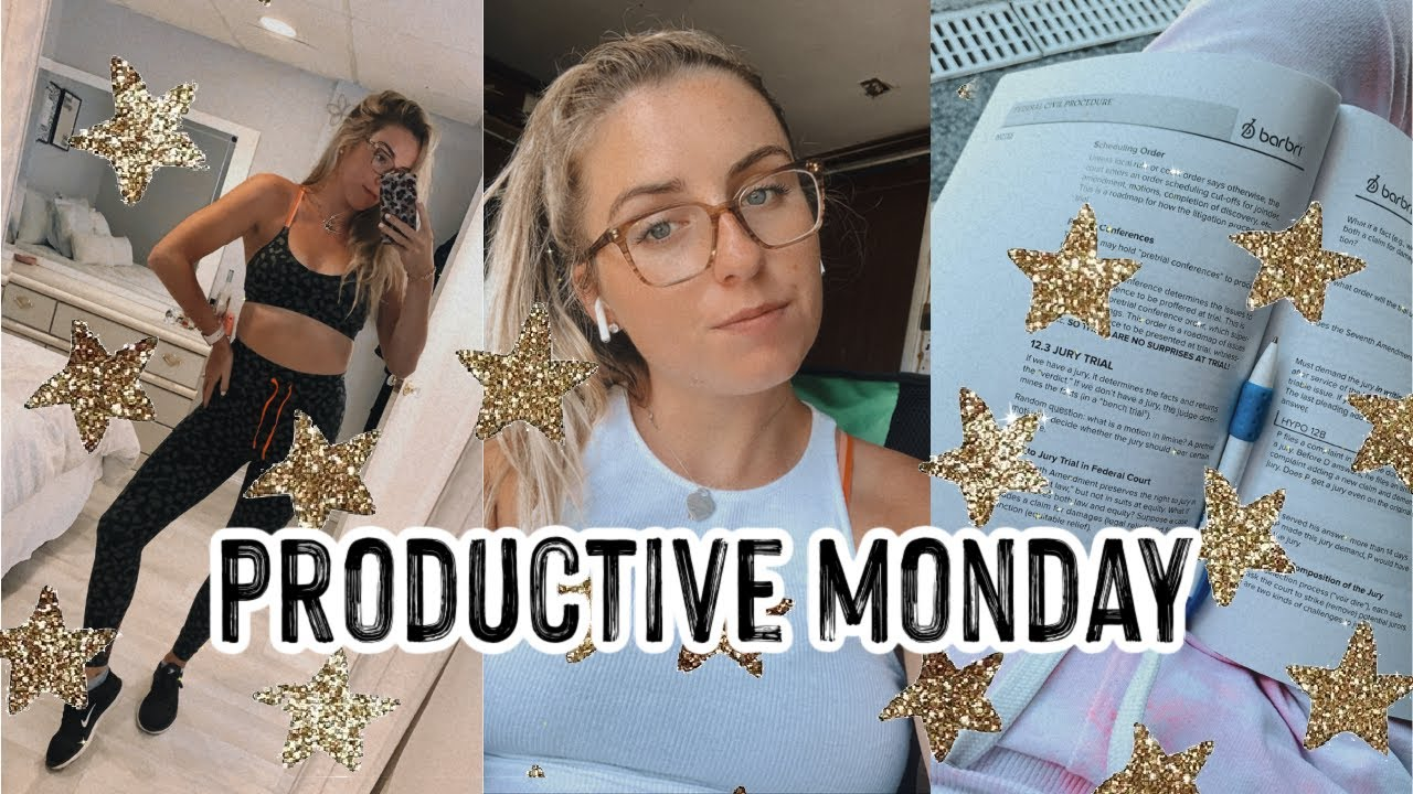 PRODUCTIVE MONDAY VLOG   PRODUCTIVITY TIPS