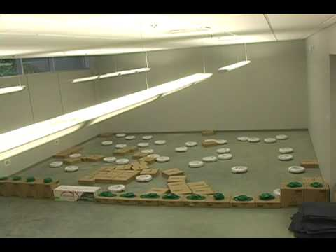 36 iRobot Create Robots clustering boxes, 10 x speed