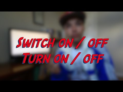 Switch on/off / Turn on/off - W2D6 - Daily Phrasal Verbs - Learn English online free video lessons