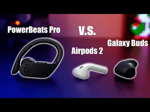 Powerbeats Pro VS Airpods 2 VS Galaxy Buds True Comparison Review