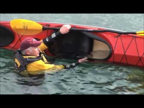 Paddle Float Re-enter and Roll Kayak Rescue
