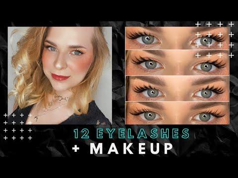 12 Eyelashes pack + basic makeup template filter for Spark Ar & Instagram - YouTube