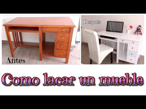 Como lacar muebles de madera, tutorial muebles lacados en blanco ...