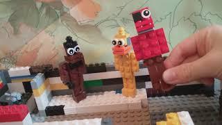 Пиццерия Фредди фазбер с аниматрониками fnaf 1 из Лего