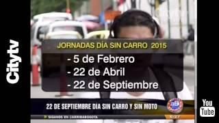 Citytv:  22 de septiembre día sin carro y sin moto en Bogotá