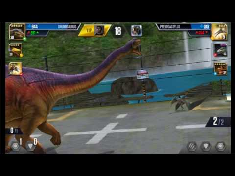 Jurassic World: The Game - Player Duel Battle 786 - PTERODACTYLUS And TANYCOLAGREUS!