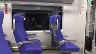 """МЦК поезд """"Ласточка"""" салон (небольшой обзор)."""