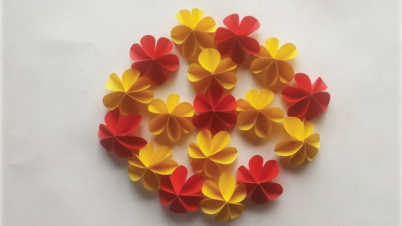 How To Make A Paper Flower Easy Cute Flower Paper Craft Ideas 96