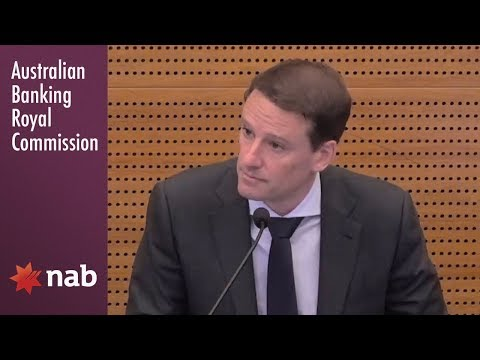 NAB's former Head of Superannuation & Investment Platforms testifies at the Royal Commission