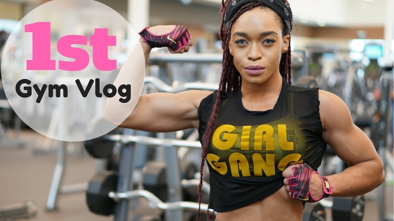 Fitness Workout Vlog Gym Day with Lola Montez - YouTube