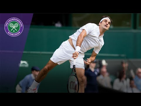 Roger Federer serves his way out of trouble in Wimbledon 2017 semi-final